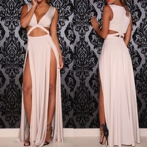 Abyss by Abby High Slit Craving Gown